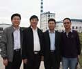 中国日用玻璃协会赵副秘书长赴宿迁蓝色精品玻璃公司考察
