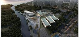 扬州李宁体育公园,铝合金幕墙和彩釉玻璃创建剪纸窗花效果