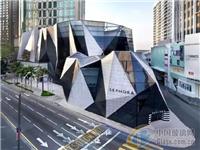 玻璃幕墙与石材混搭打造马来西亚较美水晶建筑