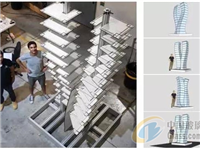 Ferro与Dip-tech技术结合的未来派打印玻璃建筑模型诞生