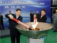 杜家毫芮晓武为中电彩虹(邵阳)特种玻璃项目点火投产