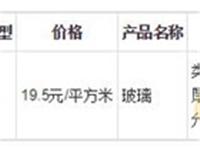 2018年12月7日山东省玻璃价格行情预测