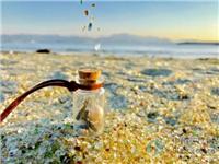 日本玻璃沙滩乍看似宝石满地