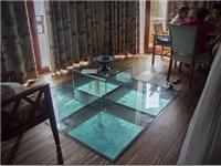 钢化玻璃地板用什么支架  茶几玻璃怎么与支架连接