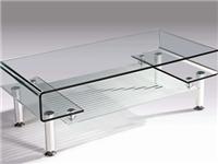 玻璃材质茶几该怎么挑选  普通玻璃茶几能耐多少度