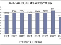 2012-2019年8月中国平板玻璃产量情况