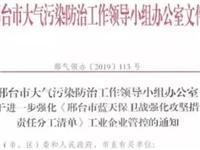 河北邢台强化大气污染防治工作,共18家玻璃企业或停产限产