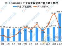 2019年1-2月广东省平板玻璃产量同比增长0.03%