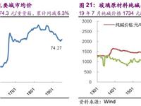 光大证券建材周报2019年第23期:玻璃行业量、价、成本情况
