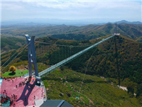 """大青山""""亚洲超长""""高空玻璃吊桥"""