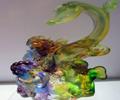 妙手巧夺天工琉璃摆件 造型百态石趣横生