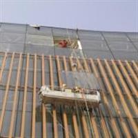 租用吊篮更改玻璃