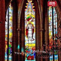 欧洲教堂玻璃窗纯手工制作