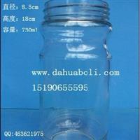 730ml罐头玻璃瓶 酱菜玻璃瓶 蜂蜜瓶 配套瓶盖