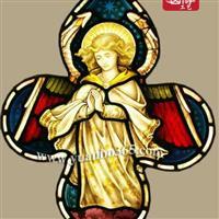 欧美传统手绘镶嵌彩绘玻璃彩色玻璃【圆博工艺】