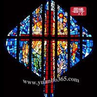 教堂玻璃教堂彩绘玻璃