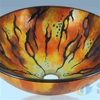 钢化彩釉玻璃洗手盆家用玻璃