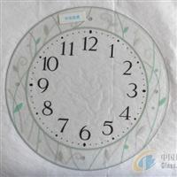 供应钟表玻璃钢化玻璃丝印玻璃钻孔玻璃