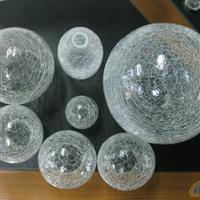 玻璃裂纹球 空心玻璃球 镀银玻璃球