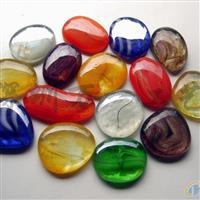 琉璃自由石,彩色透明鹅卵石