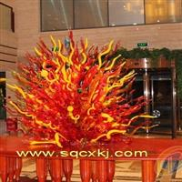 河南商丘吹制玻璃 玻璃雕塑 艺术玻璃 吹制艺术玻璃灯饰