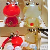 玻璃青蛙挂件,精美动物挂件饰品