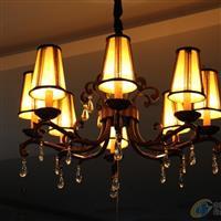 領潮水晶 水晶燈/水晶吊燈/鐵藝彎管燈/客廳水晶燈/現代/歐式簡約燈