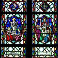 彩色手绘教堂玻璃