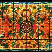 教堂玻璃、彩繪玻璃穹頂、彩色穹頂玻璃、歐式鑲嵌玻璃