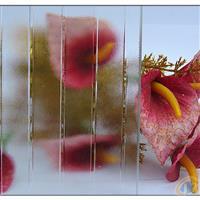 透明四季红压花玻璃
