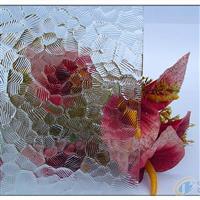 透明银波压花玻璃