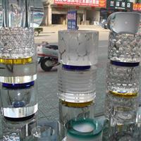水晶装潢柱玻璃叠层柱生产厂家