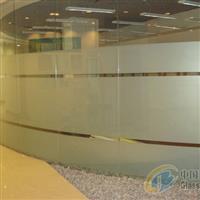 办公室玻璃隔断贴膜磨砂膜