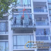 高空作业吊装更换大板玻璃