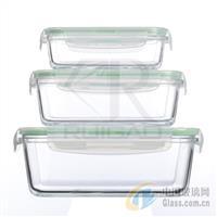三件套长方形玻璃保鲜盒
