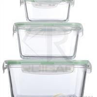 三件套正方形玻璃保鲜盒
