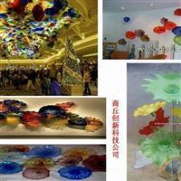 多种规格琉璃荷叶 琉璃艺术品