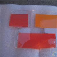 红色高硼硅丝印玻璃