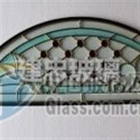 镶嵌玻璃 铁艺中空玻璃