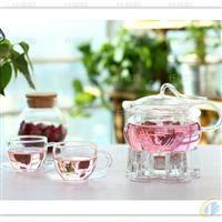 手工吹制高硼硅玻璃茶壶 艺术飘带壶 可选配套