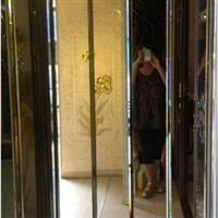 艺术玻璃 12厘粉红镜节节高