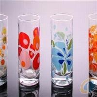 烤花玻璃杯 玻璃瓶水杯
