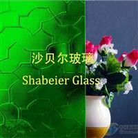 绿色压花玻璃--七巧板/迷宫