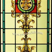 打造彩绘玻璃窗手绘彩绘镶嵌