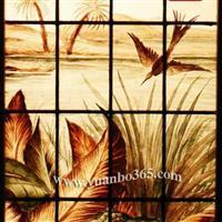 供应出口海外彩绘教堂玻璃