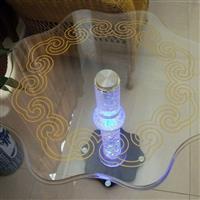 太阳能夜光玻璃气泡水晶桌子