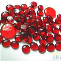 大量供应红色玻璃扁珠/自由石