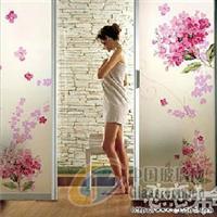 北京彩绘艺术玻璃贴膜个性磨砂膜