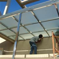 深圳阳台雨棚玻璃雨棚不锈钢雨棚
