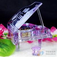 北京水晶钢琴定做,水晶莲花定做
